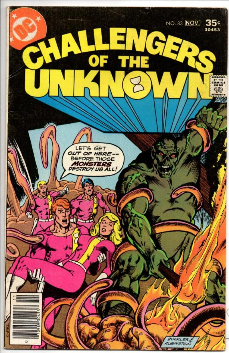 CHALLENGERS of the UNKNOWN #83, FN/VF, Swamp Thing, 1977, more DC in store