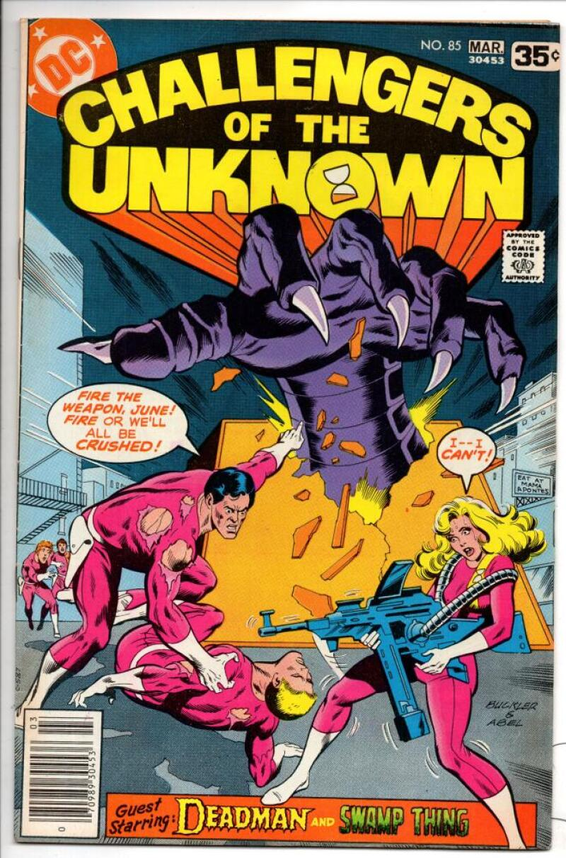 CHALLENGERS of the UNKNOWN #85, VF, Swamp Thing, 1977, more DC in store