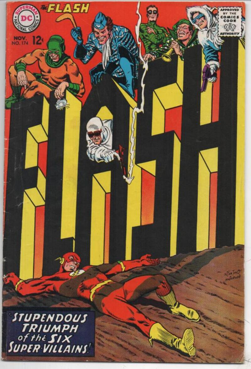 FLASH #174,  FN, Super Villains, 1967, more in store, DC Infantino