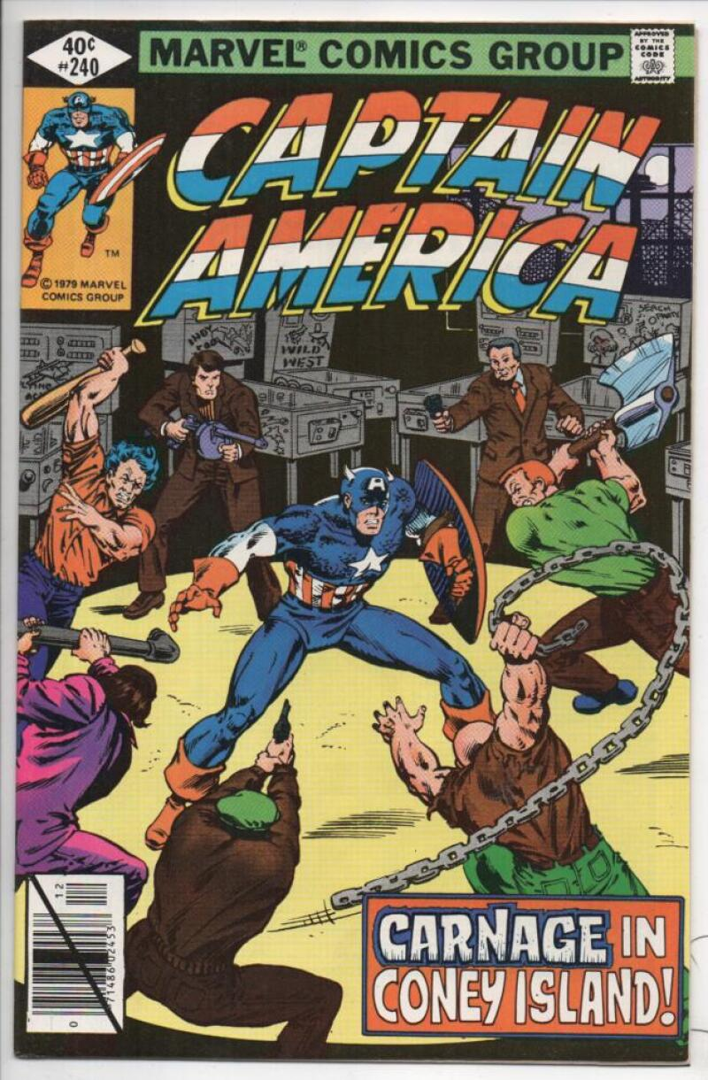 CAPTAIN AMERICA #240, NM-, Coney Island Gang Wars 1968 1979, more CA in store