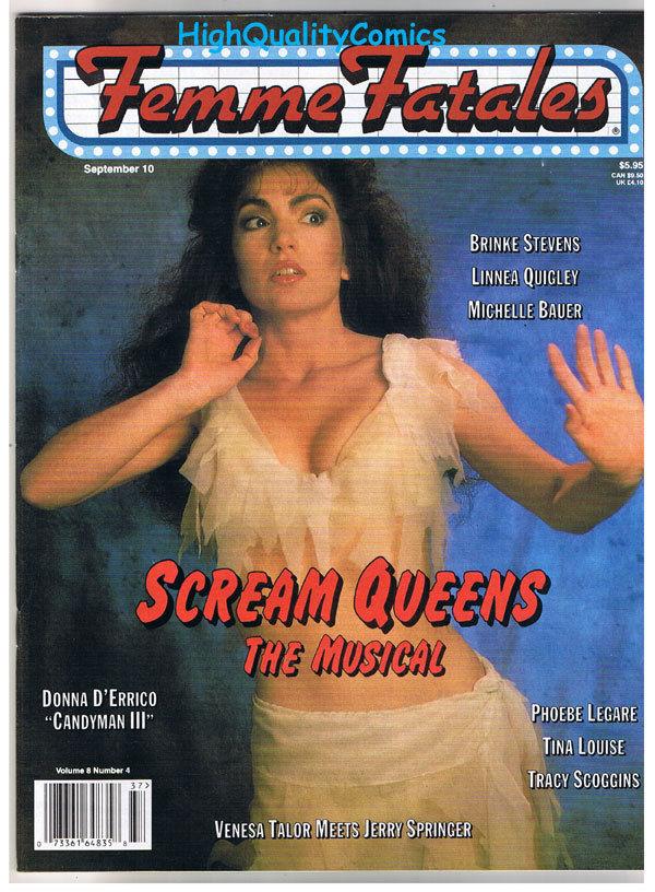 FEMME FATALES, Sept 1999, Brinke Stevens, Quigley, VF+