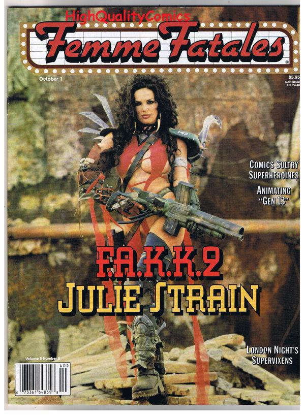 FEMME FATALES, October 1999, Julie Stain, Gen 13, VF+