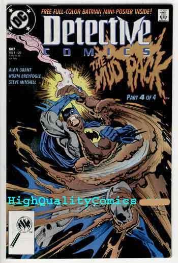 DETECTIVE #607, NM+, Batman, Alan Grant, 1989, Gotham City, more in store