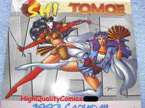SHI TOMOE 1997 Calendar, NM+, William Tucci, Warrior, Art of War, still sealed