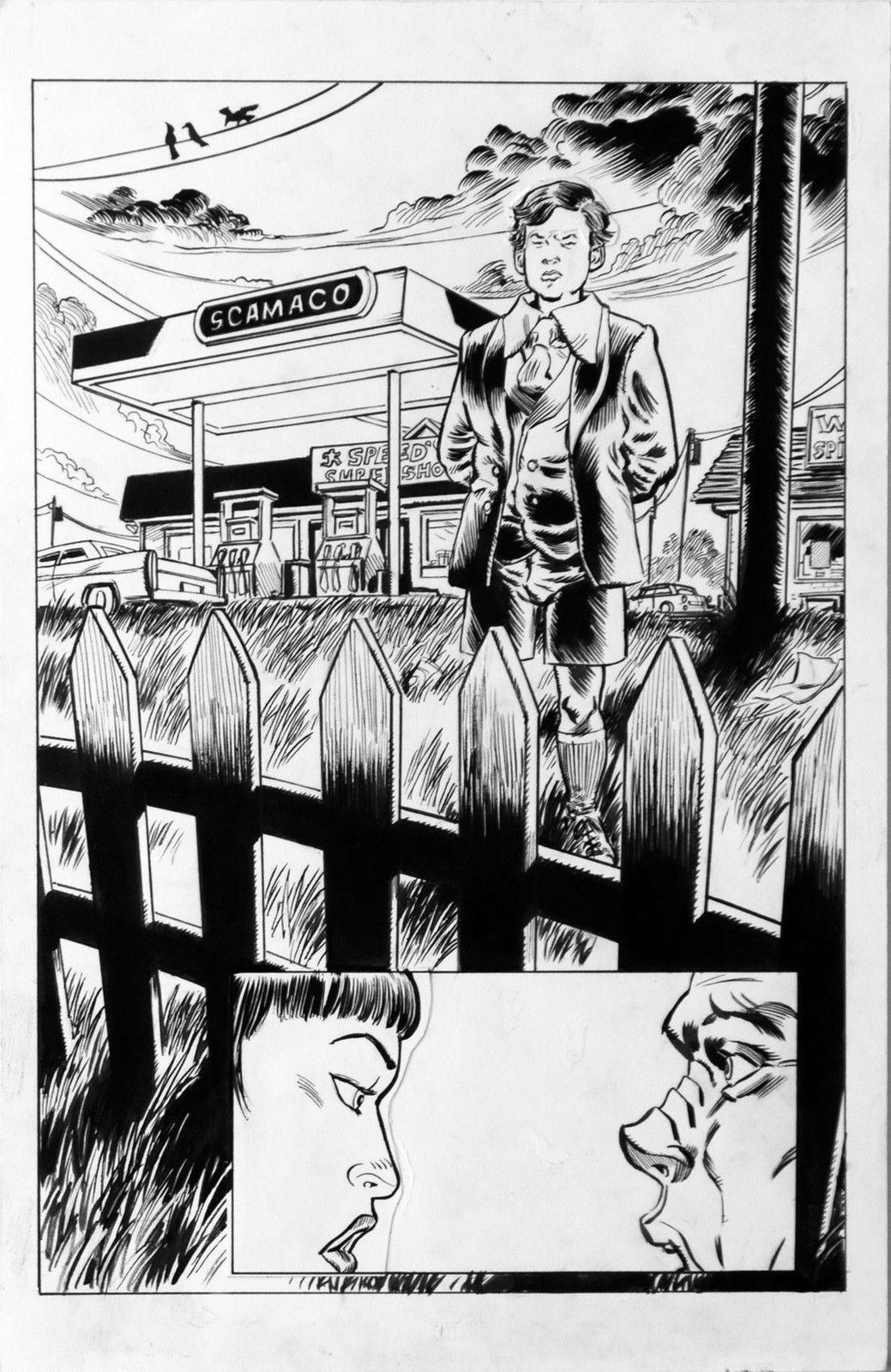 DEAN KOTZ Original Published Art, TRAILER PARK of TERROR #9 page 2, Zombies