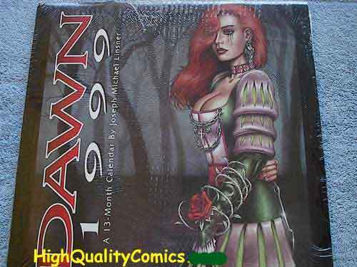 DAWN 1999 Calendar, NM+, Joseph Linsner, Red-head, Cry for Dawn, still sealed