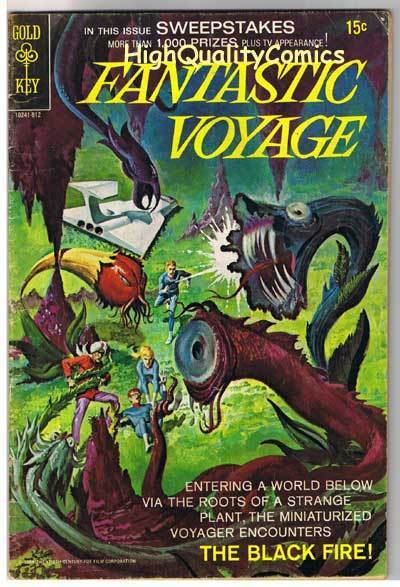 FANTASTIC VOYAGE #2, VG+, TV Show, Black Fire, 1969, more Gold Key in store