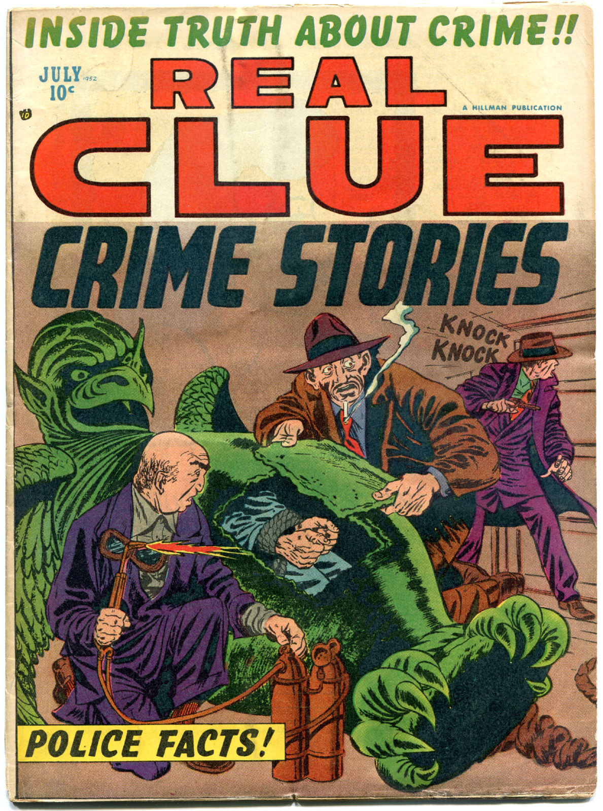 REAL CLUE CRIME STORIES V7 #5, VG/VG+, 1952, Golden Age, Pre-code, more in store