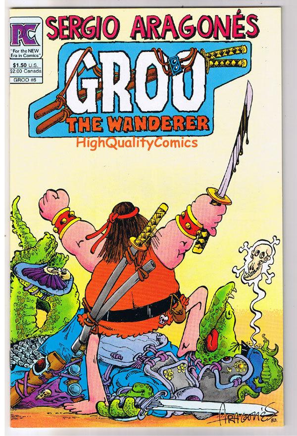GROO #6,  NM-, Sergio Aragones, Pacific, 1982, Conan Parody, more SA in store