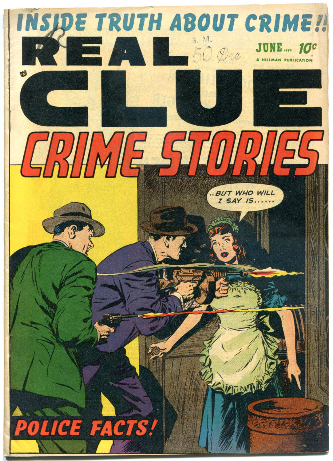 REAL CLUE CRIME STORIES V7 #4, VG/FN, 1952, Golden Age, Pre-code, more in store