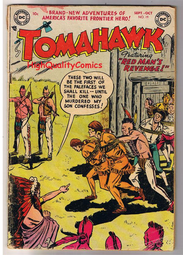 TOMAHAWK #19, Indians, Lafayette, Western, 1950, GD