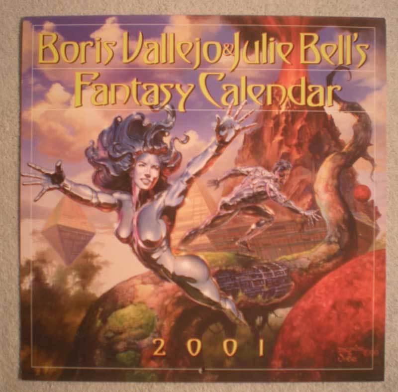BORIS VALLEJO 2001 Calendar, VF, Good Girl, Femme Fatale, more in store