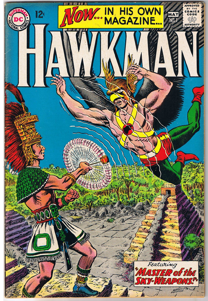 HAWKMAN #1, FN/FN+, Murphy Anderson, Mayan, 1964, more Silver age in store
