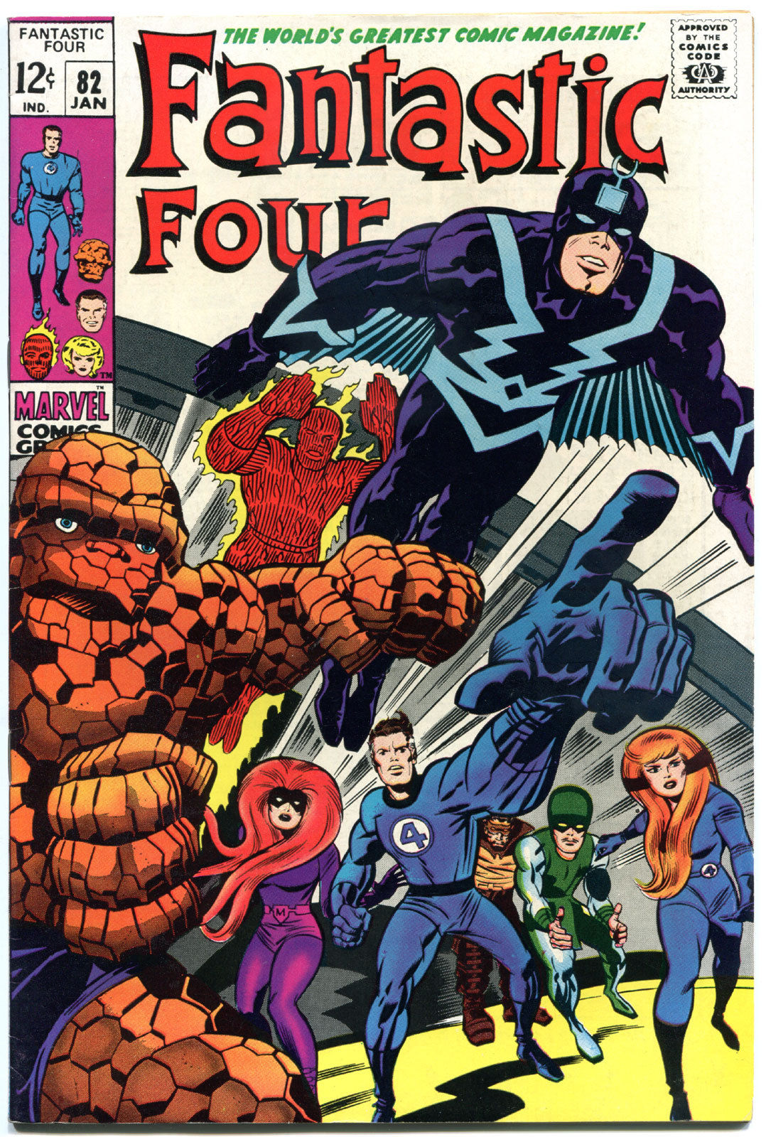 FANTASTIC FOUR #82, VF, InHumans, Jack Kirby, 1961, more FF in store, Marvel
