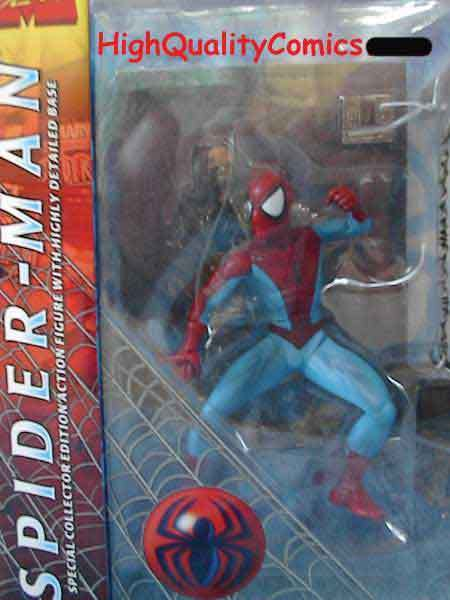 Amazing SPIDER-MAN Action figure set, webbing, toy, wall, light wear to package