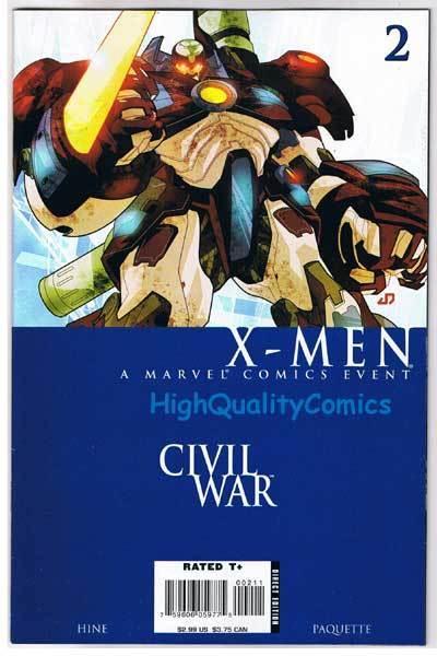 CIVIL WAR : X-MEN #2, VF/NM, Yanick Paquette, 1st, 2006, more in store