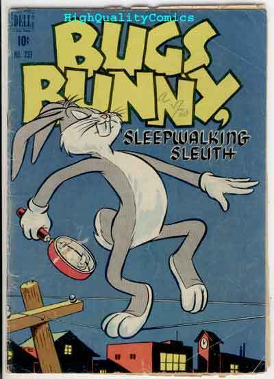 BUGS BUNNY #233,  VG-, Dell, 1949, Porky Pig, Warner Bros, Sleep Walking