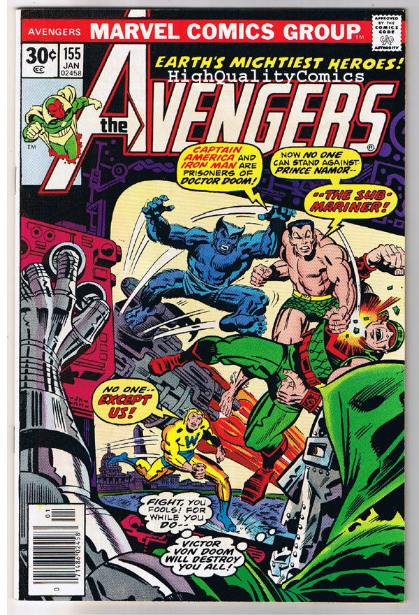 AVENGERS #155, NM-, Iron Man, Wonder, Captain America,1963, more in store
