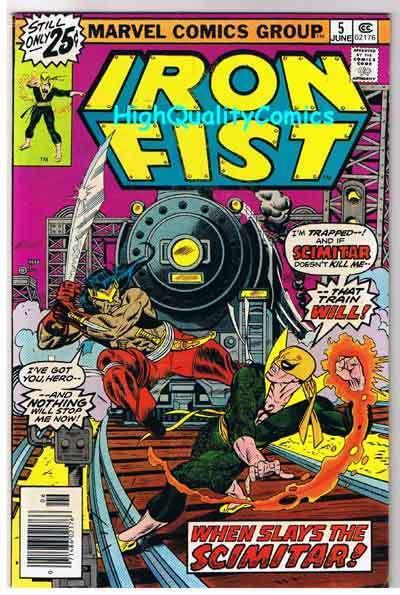 IRON FIST #5, VF, Scimitar, Chris Claremont, John Byrne, 1975, more in store