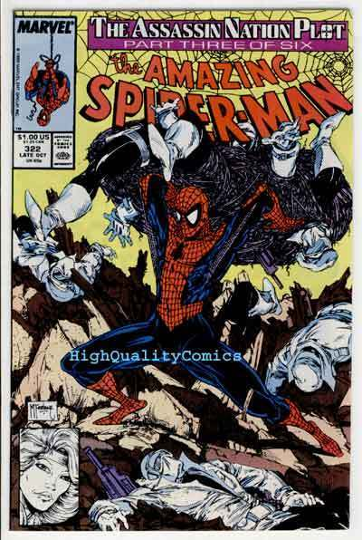 Amazing SPIDER-MAN #322, VF/NM, Silver S, Todd McFarlane,1963,more ASM in store