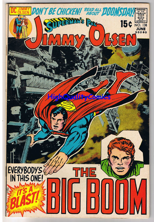 SUPERMAN'S PAL JIMMY OLSEN #138, VF+, Jack Kirby, 1954, more JK in store