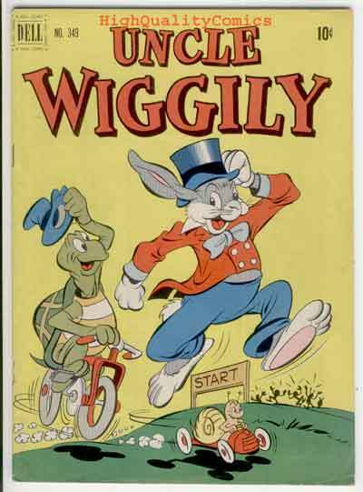 UNCLE WIGGILY #349, VG+/FN, Dell, Tortoise & Hare, 1951