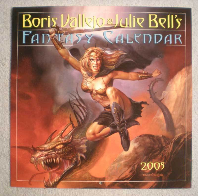 BORIS VALLEJO 2005 Calendar, VF, Good Girl,Femme Fatale, more in store