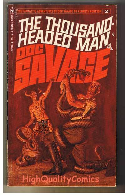 DOC SAVAGE #2 - 1000 HEADED MAN pb, Ken Robeson,1972, VG