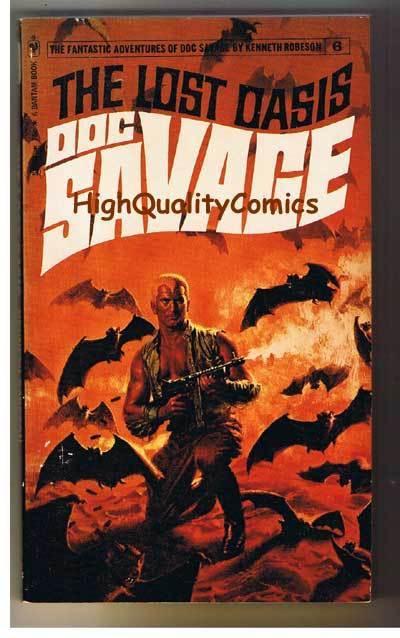 DOC SAVAGE #6 - LOST OASIS pb, Ken Robeson, 1972, FN-