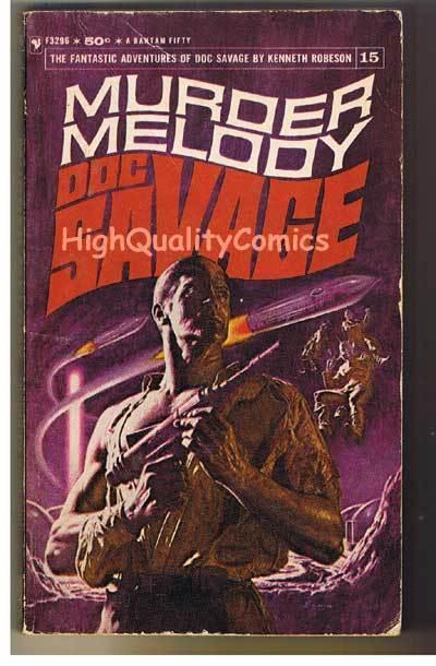 DOC SAVAGE #15 - MURDER MELODY pb, VG, Ken Robeson, 1967