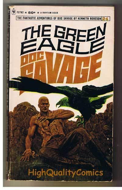 DOC SAVAGE #24 - GREEN EAGLE pb, Ken Robeson,1968, VG