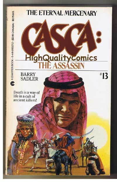 CASCA : ASSASSIN pb, FN-, Barry Sadler, 1985, Unread, 1st, more PB's in store