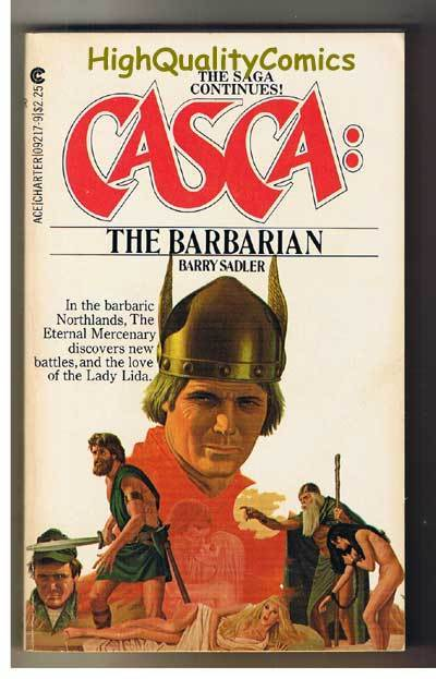 CASCA : BARBARIAN pb, VG+, Barry Sadler, 1981, Unread, 1st, more PB's in store