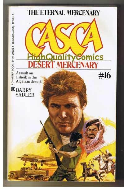 CASCA : DESERT MERC pb, FN-, Barry Sadler, 1986, Unread, 1st,more PB's in store
