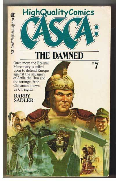 CASCA : THE DAMNED pb, VG, Barry Sadler, 1982, 1st, more PB's in store