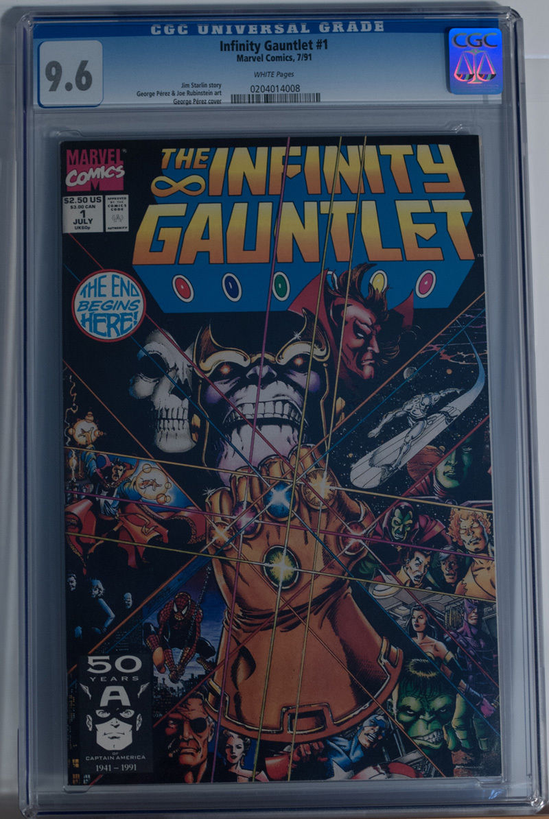INFINITY GAUNTLET #1, CGC = 9.6, NM+, Thanos, Avengers, 1991 , more in store