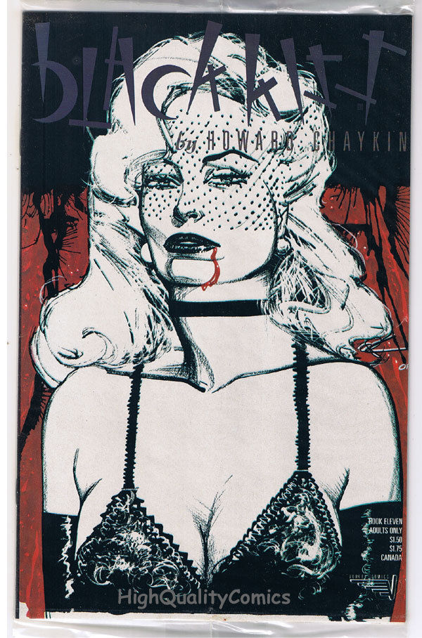 BLACK KISS #11, Howard Chaykin, Adult, 1st, Nudity, 1988, NM-