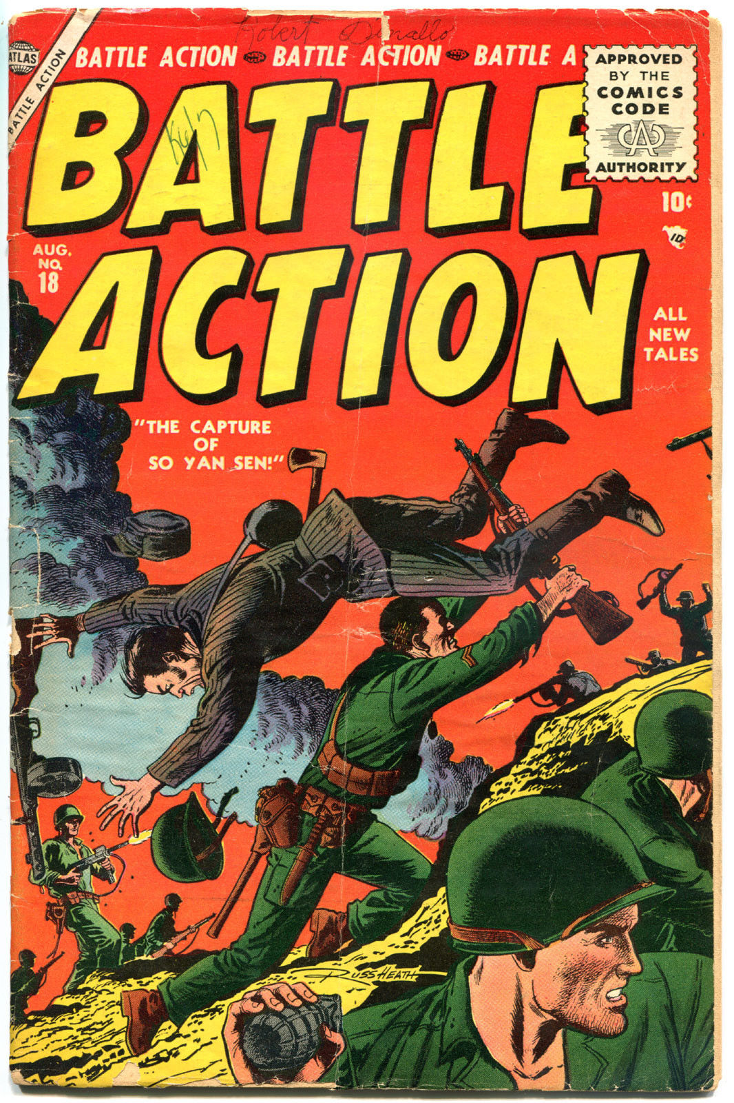 BATTLE ACTION #18, VG-, 1952, Golden Age, Atlas, Russ Heath, more in store