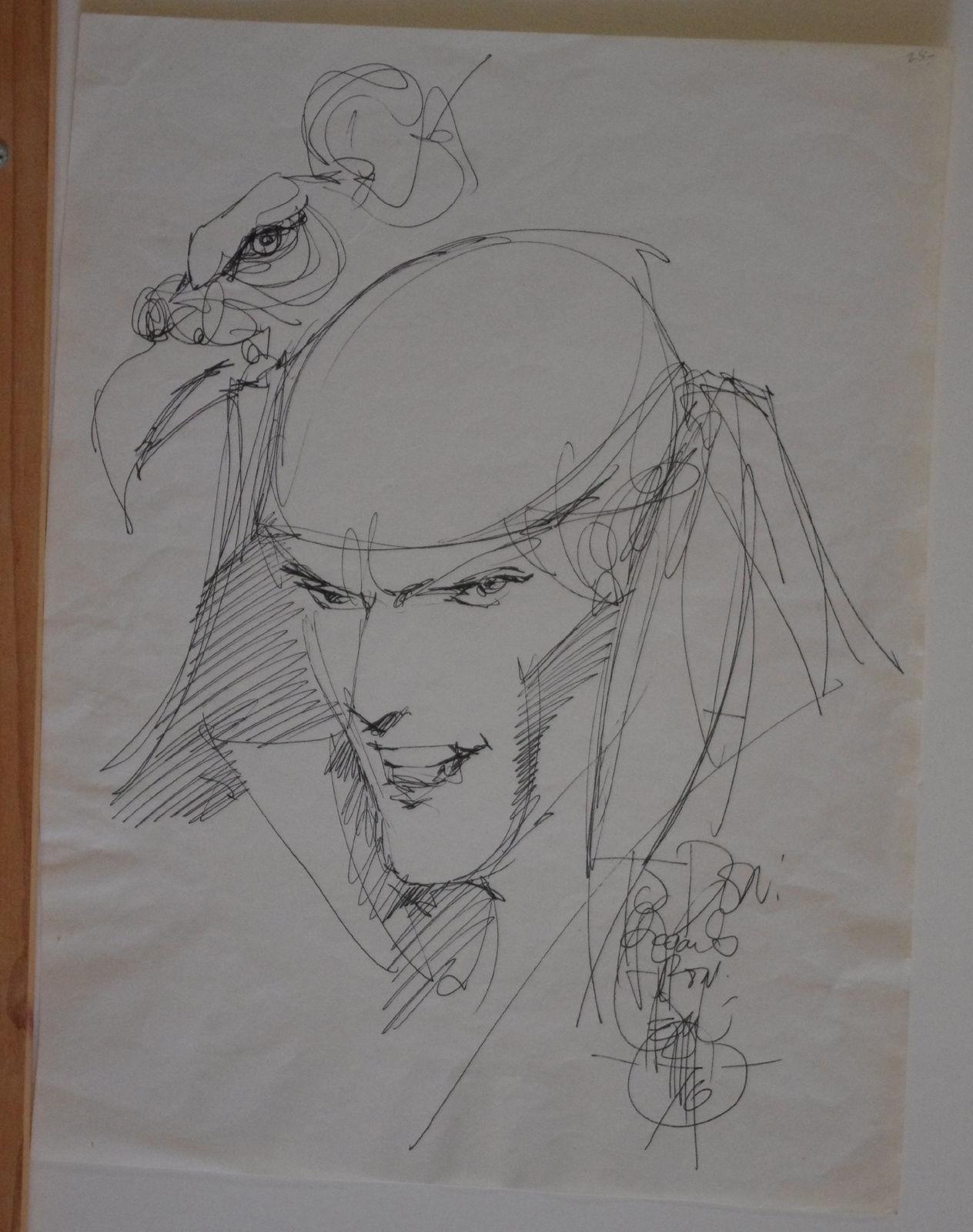 ALEX NINO Original art, Signed, GYPSY, Elektra like, 12x16, Sketch, 1976, lots more art in store
