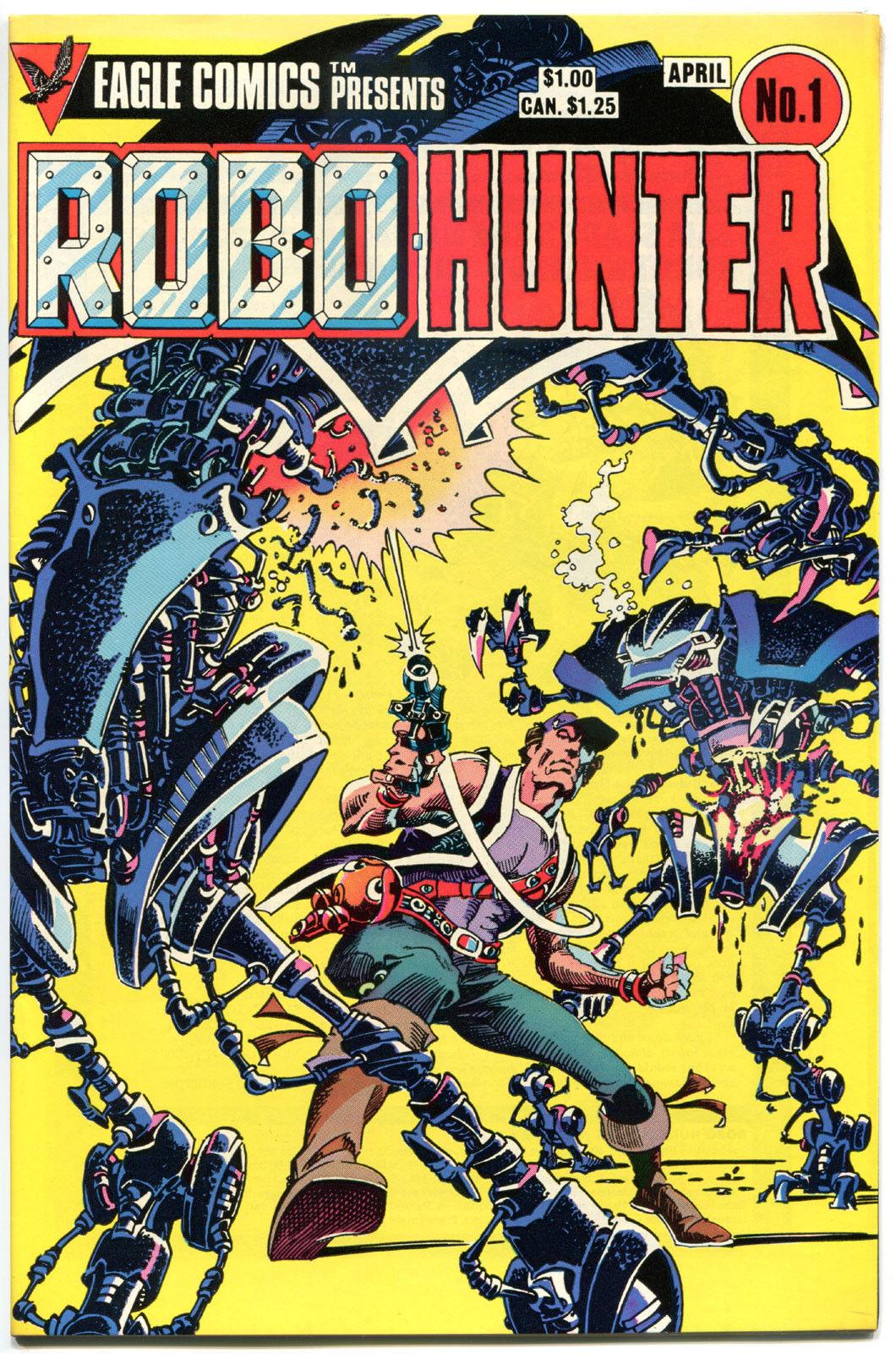 ROBO-HUNTER #1 2 3 4, VF/NM, Robots, John Wagner, Eagle, 1984, Sam Slade, Killer