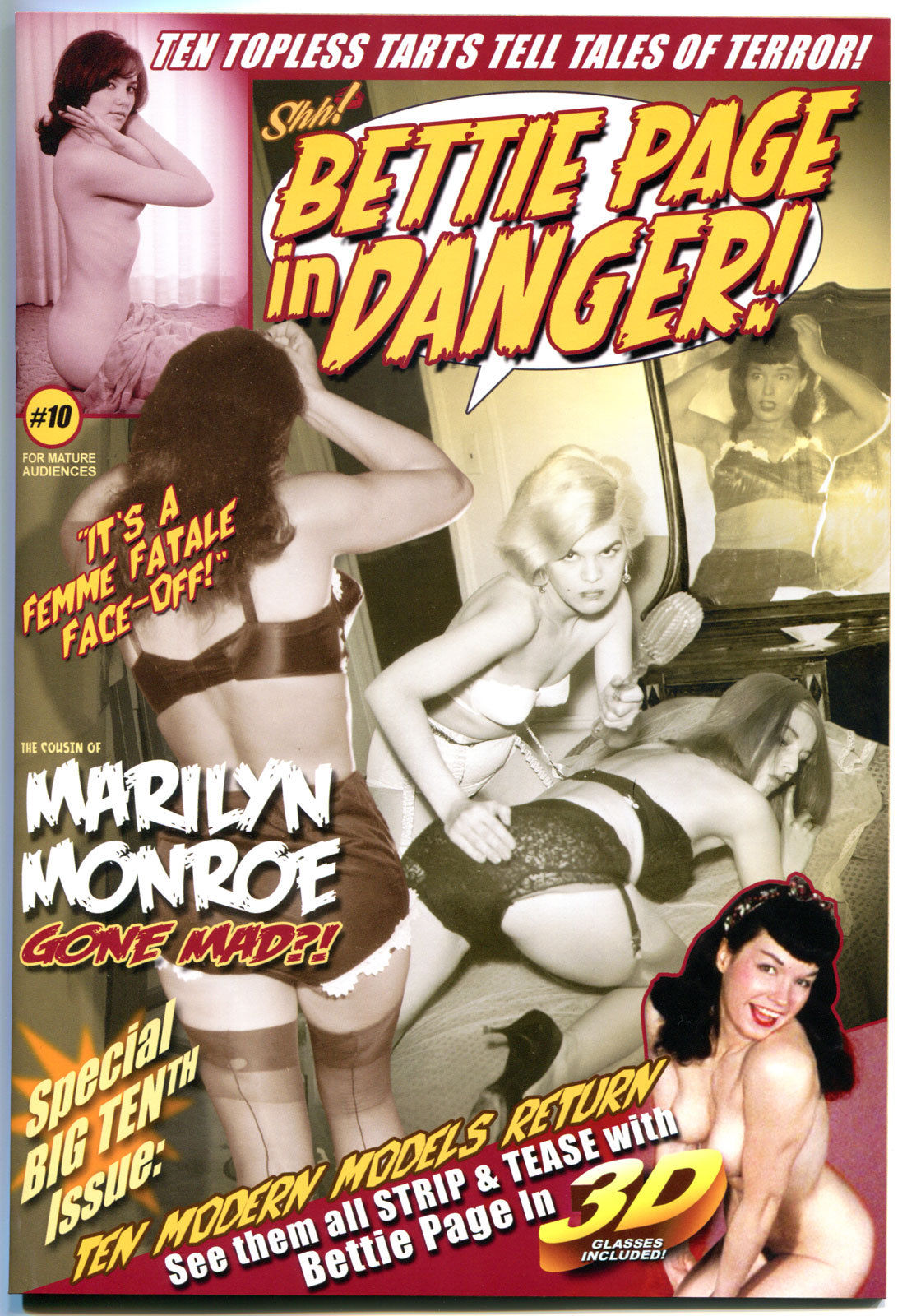BETTIE PAGE IN DANGER IN 3-D #10, NM, Betty, Shh, 2012, more BP in store