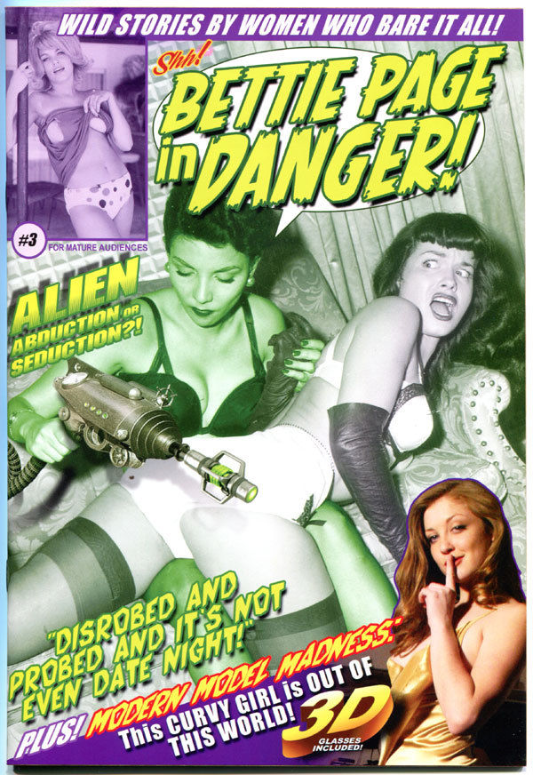 BETTIE PAGE IN DANGER IN 3-D #3, NM+, Betty, Shh, 2012, more Good Girl in store