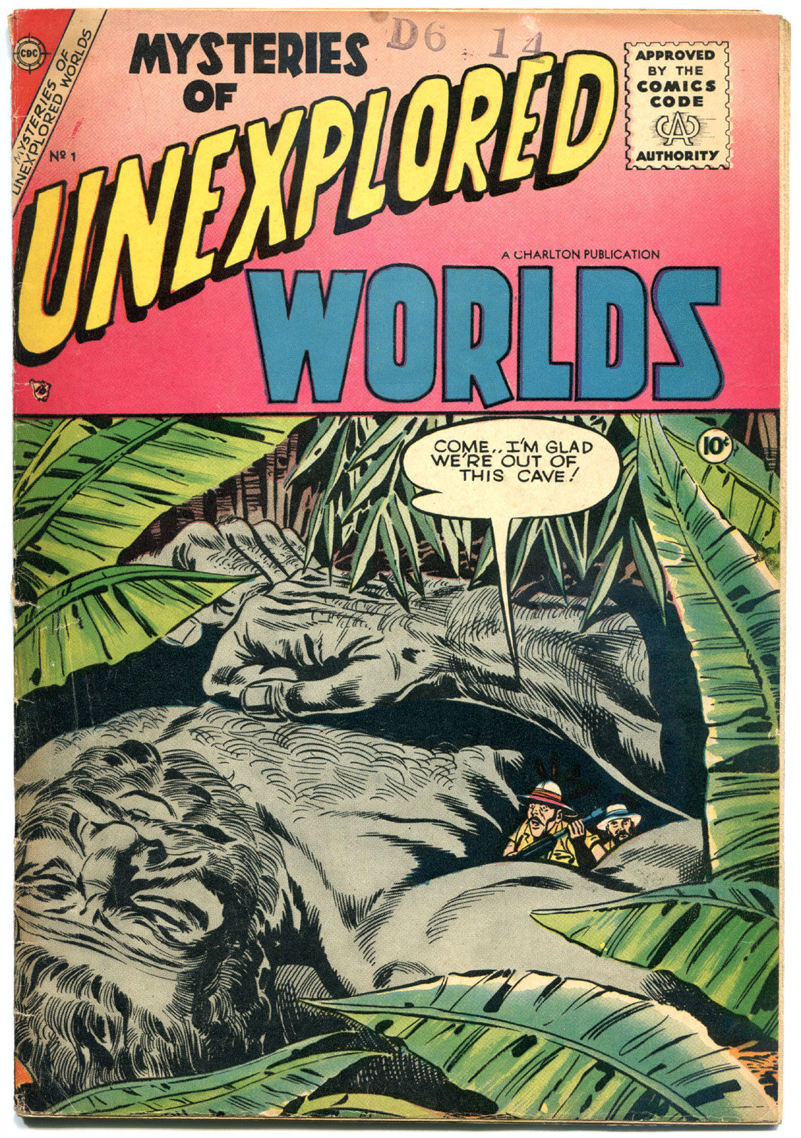 MYSTERIES of UNEXPLORED WORLDS #1, FN-, Charlton, 1956, Golden Age