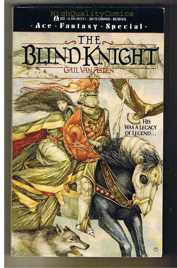 BLIND KNIGHT pb, FN-, Gail Van Asten, 1988, Unread, 1st, more PB's in store
