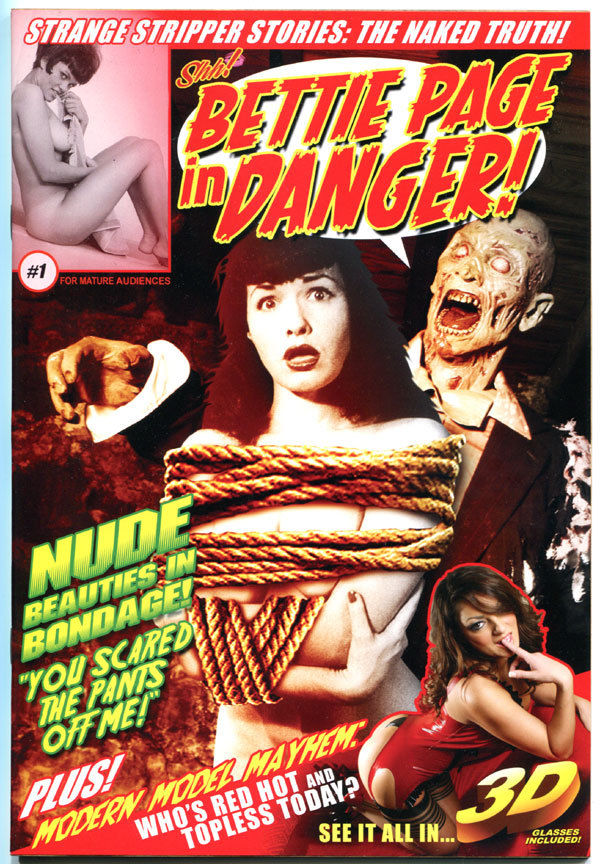 BETTIE PAGE IN DANGER IN 3-D #1, NM-, Betty, Shh, 2012, more Good Girl in store