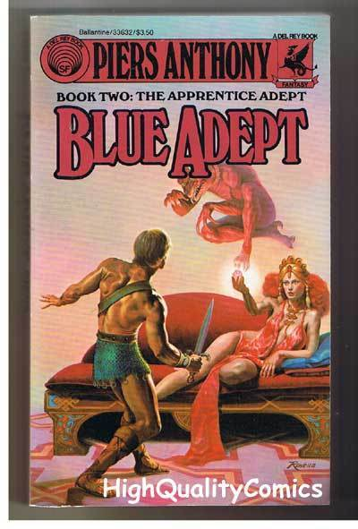 BLUE ADEPT pb, VG+, Piers Anthony, Apprentice Adept, 1985, more pb's in store