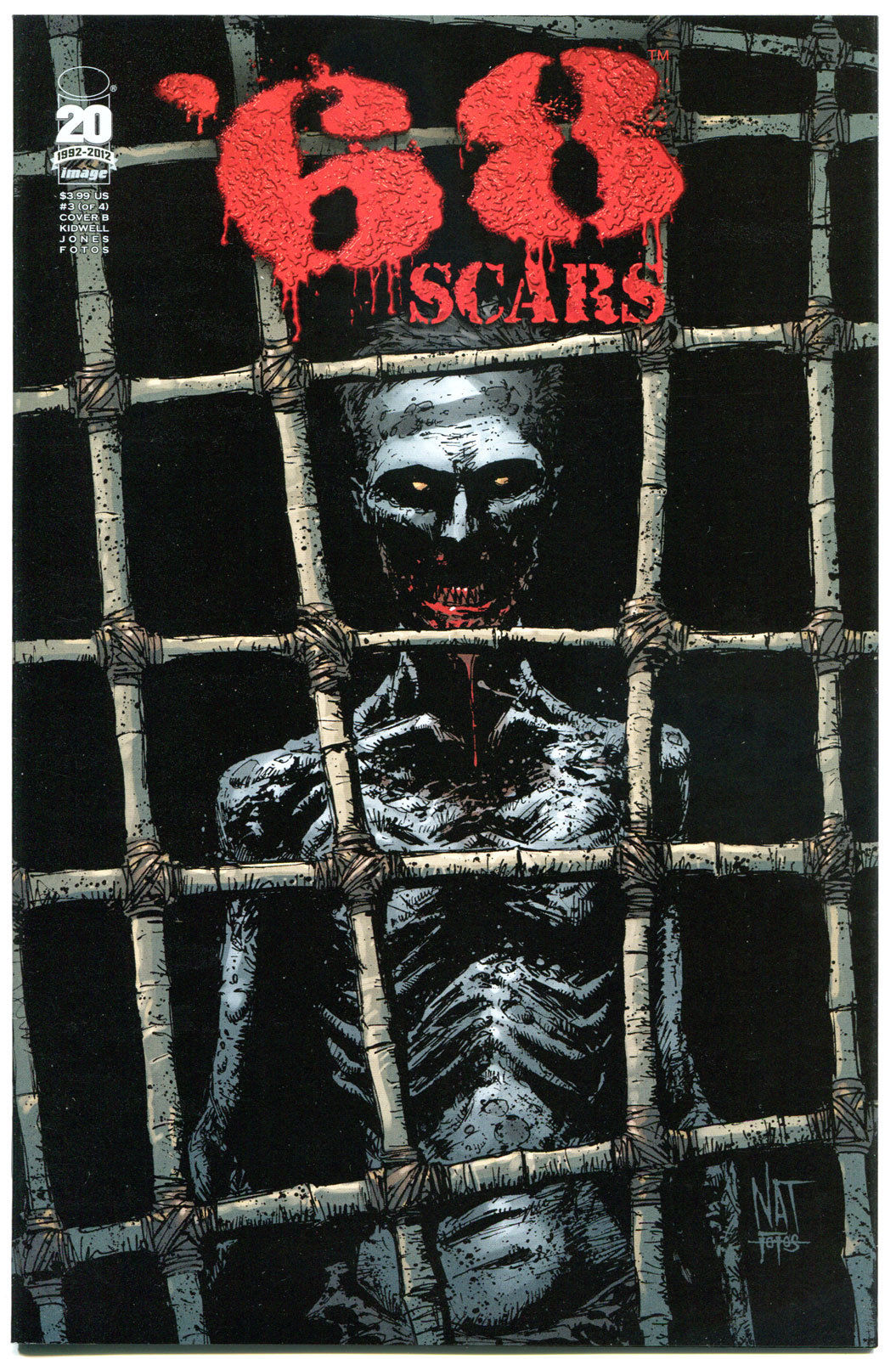 '68 Scars #3 B, 1st Print, NM, Zombie, unDead. Vietnam War, 2012, more in store