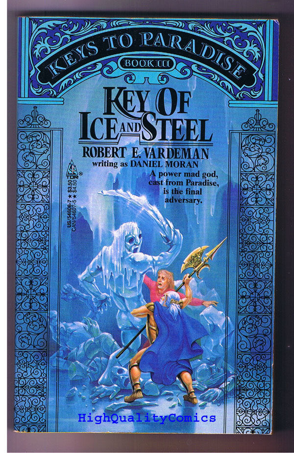 KEY OF ICE & STEEL pb, FN-, Robert Vardeman ,1988, Unread,1st,more PB's in store