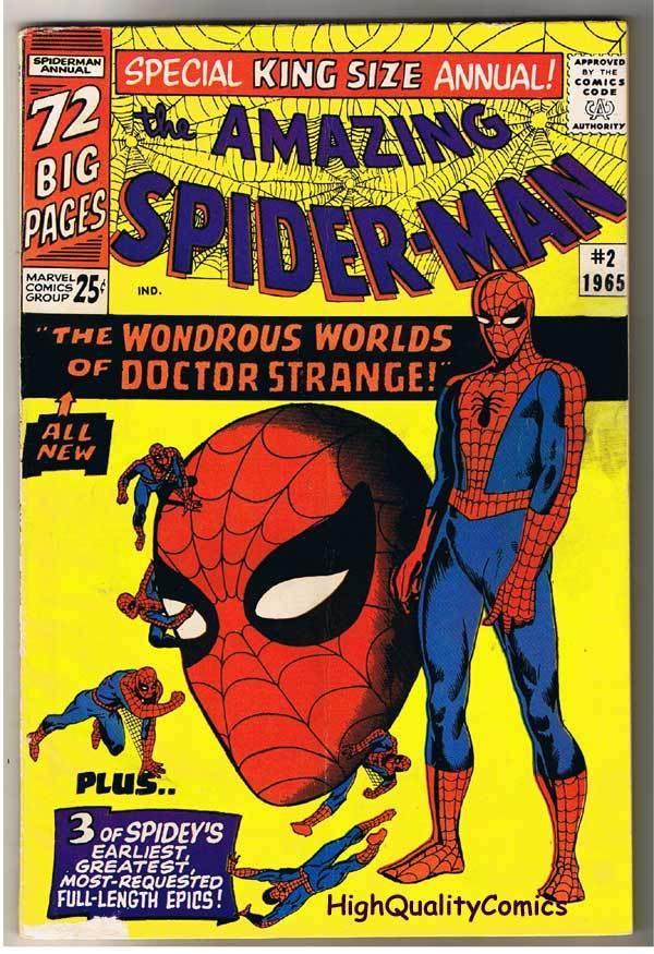AMAZING SPIDER-MAN #2, Annual, Steve Ditko, 1963, FN+