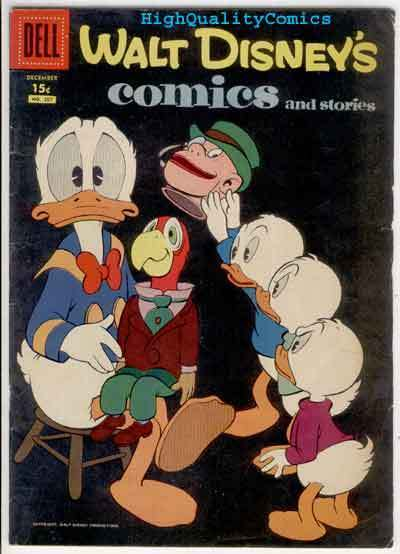 WALT DISNEY COMICS #207, FN-, Mickey Mouse, Carl Barks, 1956,  Donald Duck